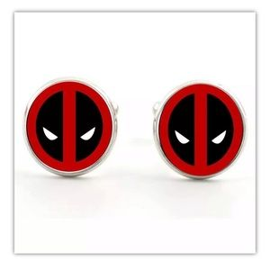 Deadpool Mask Marvel Cufflinks set
